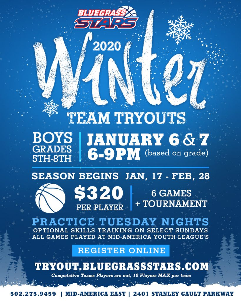 Winter 2019-2020 League Basketball Youth 5th -8th Grade