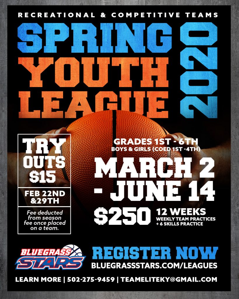 Spring Youth Basketball League in Louisville Kentucky Near me