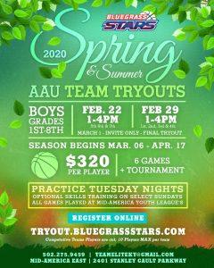 AAU Tryouts Louisville Spring 2020